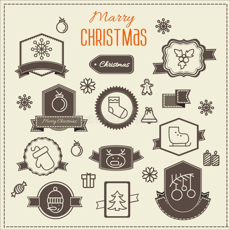 Elementos del diseño del vector de la decoración de la Navidad libre illustration