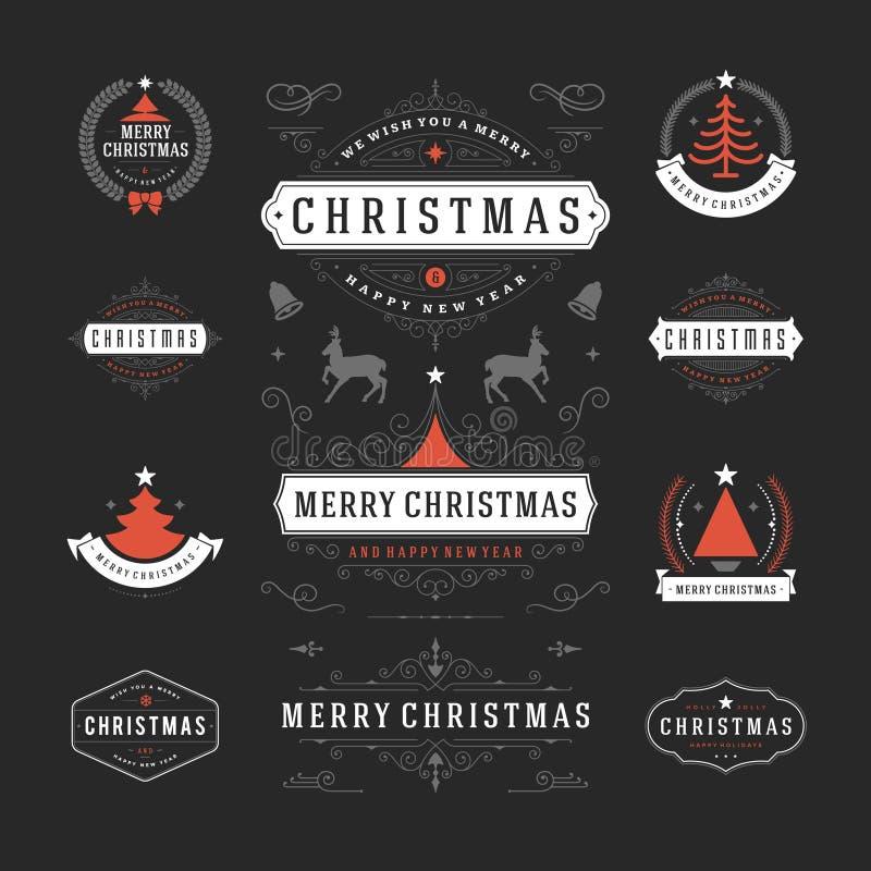Elementos del diseño del vector de las decoraciones de la Navidad libre illustration