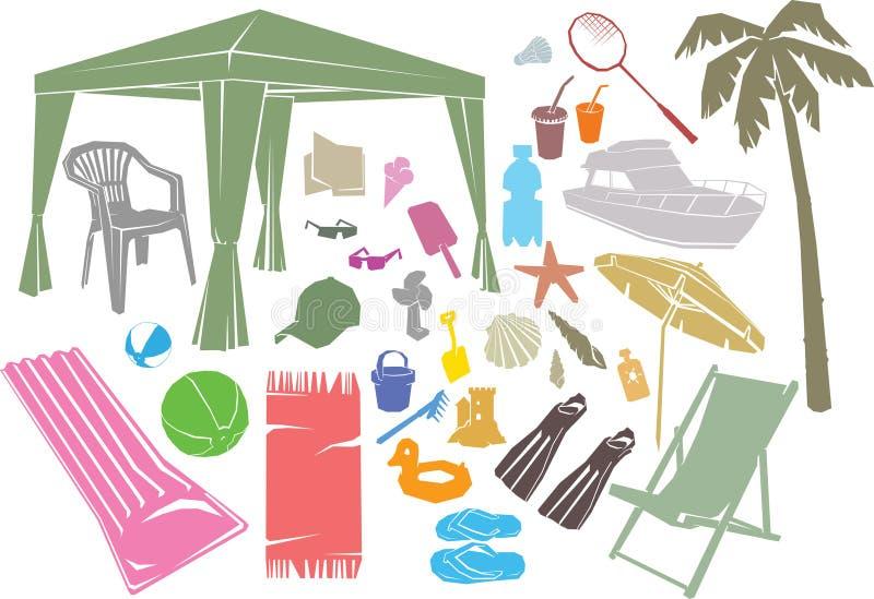Elementos del diseño del verano