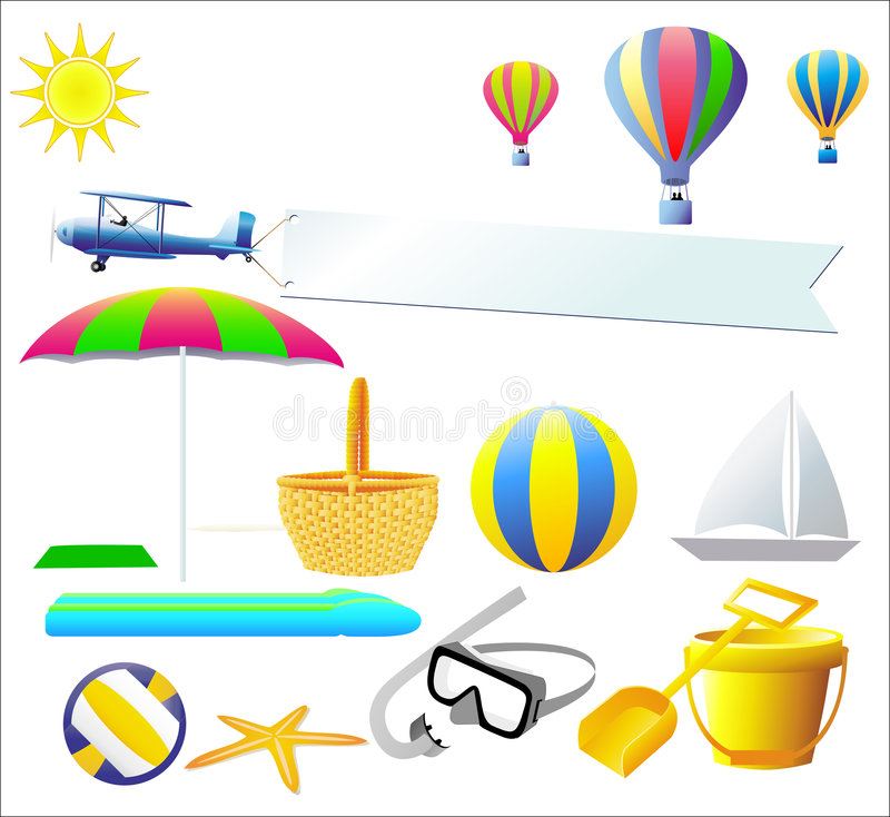 Elementos del diseño del verano - vector libre illustration