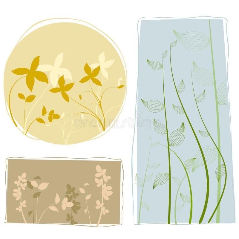 Elementos del diseño floral ilustración del vector