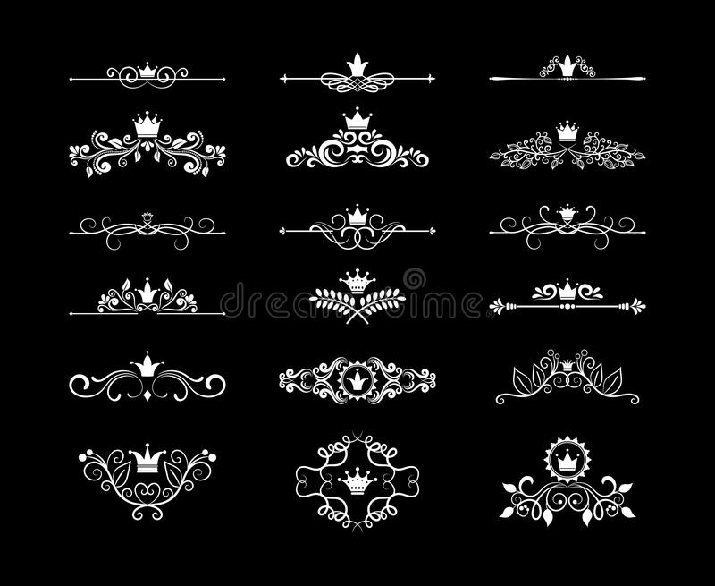 Elementos del diseño floral de la página ilustración del vector