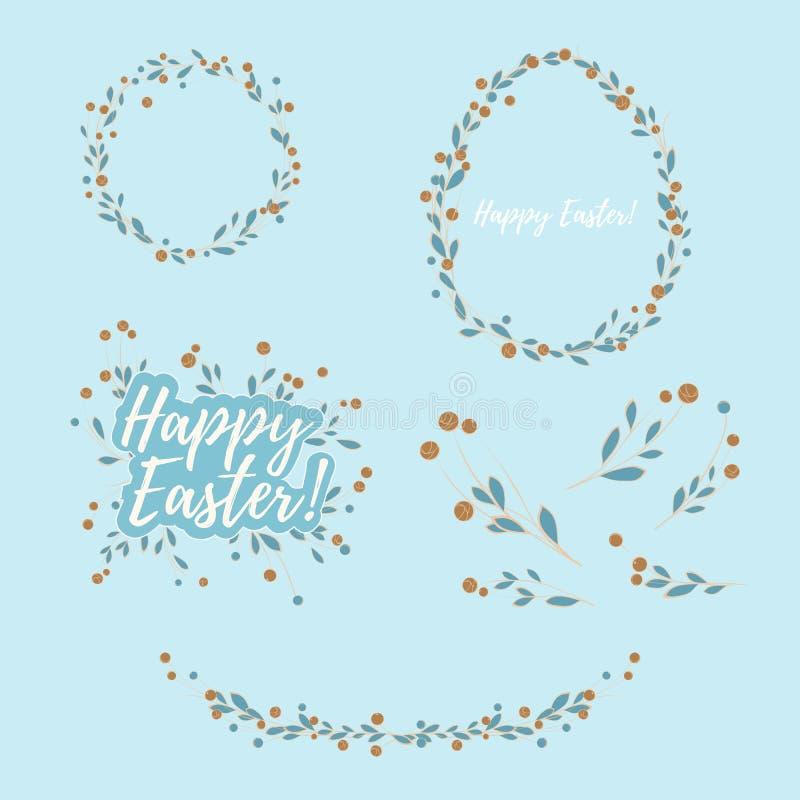 Elementos del diseño floral de Pascua ilustración del vector