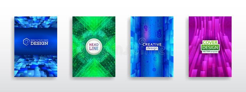 Elementos del diseño del folleto Plantillas modernas del folleto de la tecnología ilustración del vector