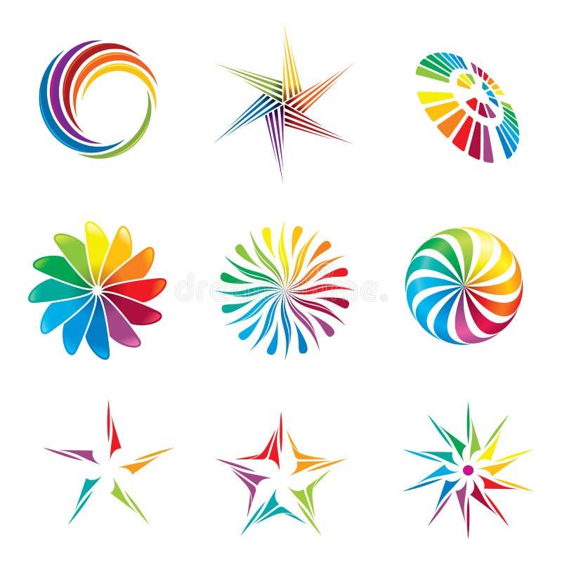 Diseño Del Rainbow Warrior Iii: Elementos Del Diseño Gráfico Ilustración Del Vector