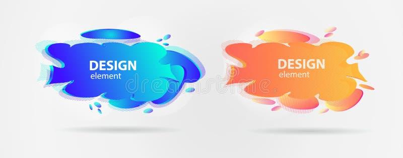 Elementos del diseño moderno, símbolos geométricos en el estilo del realismo para el diseño, redes sociales de la web ilustración del vector
