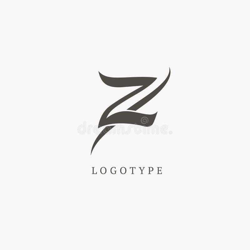 Elementos del diseño del monograma, plantilla agraciada Línea elegante caligráfica diseño del logotipo del arte ilustración del vector
