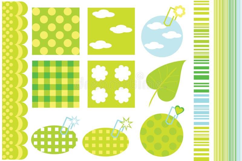 Elementos del diseño para el libro de recuerdos libre illustration