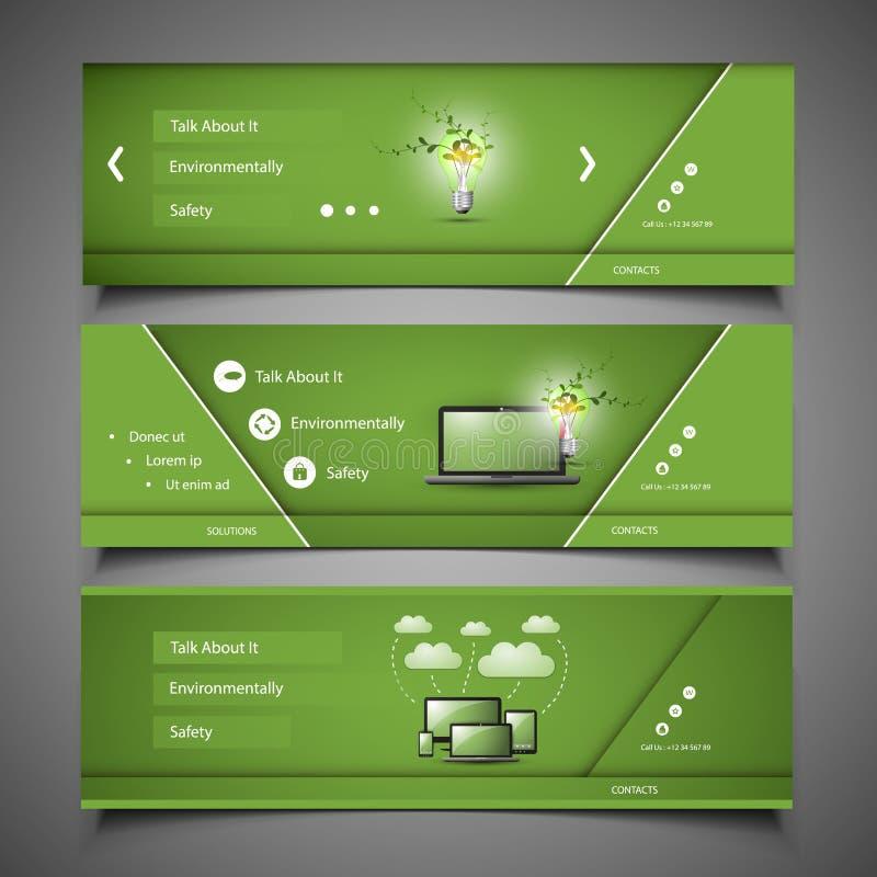 Elementos del diseño web - diseños del jefe stock de ilustración