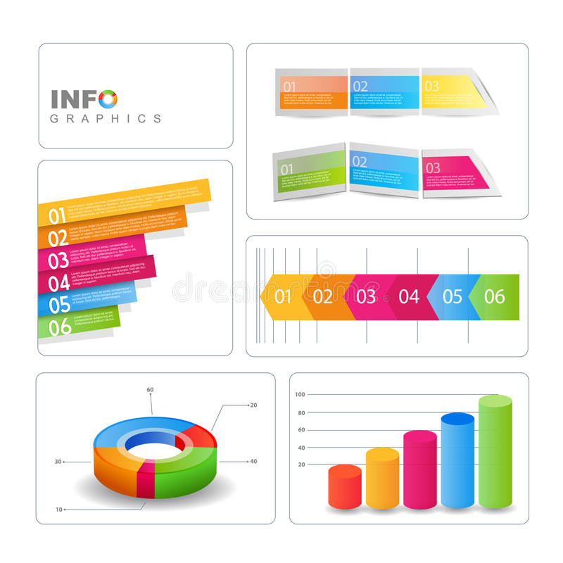 elementos del Info-gráfico. libre illustration