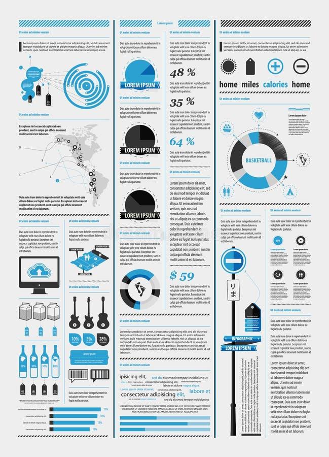 Elementos del infographics con una correspondencia stock de ilustración