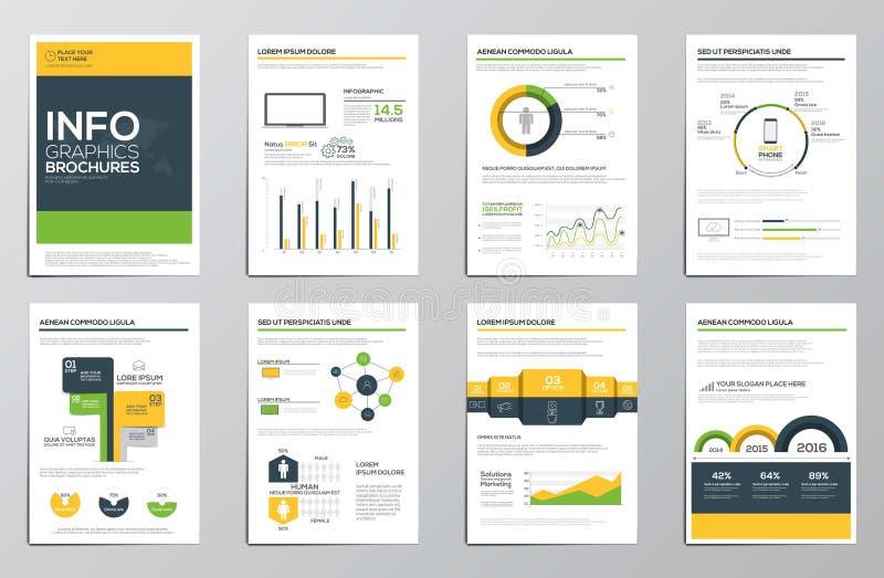 Elementos del infographics del negocio para los folletos corporativos ilustración del vector
