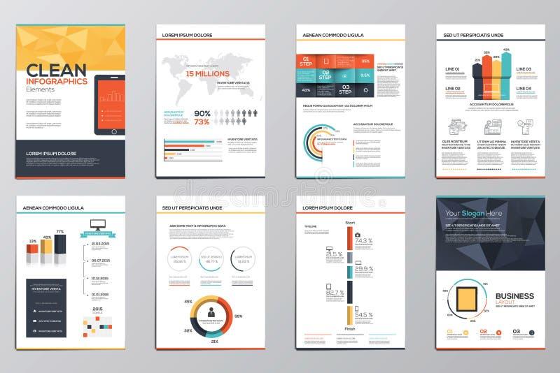 Elementos del infographics del negocio para los folletos corporativos stock de ilustración