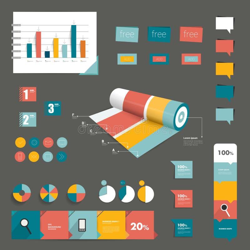 Elementos del infographics del vector. libre illustration