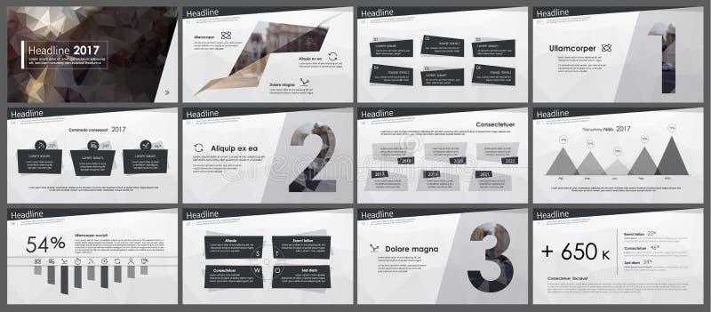 Elementos del infographics en estilo polivinílico bajo ilustración del vector