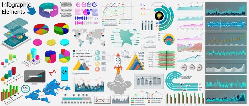 Elementos del infographics del negocio de colección ilustración del vector