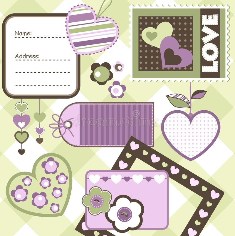 Elementos del libro de recuerdos libre illustration