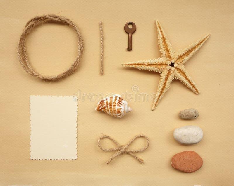 Elementos del libro de recuerdos fotografía de archivo libre de regalías