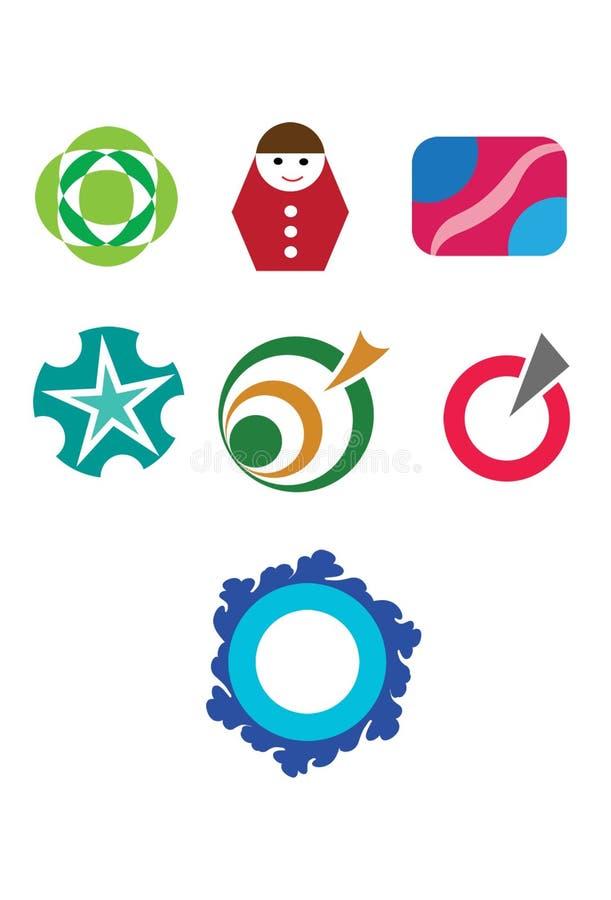 Elementos del logotipo fotografía de archivo