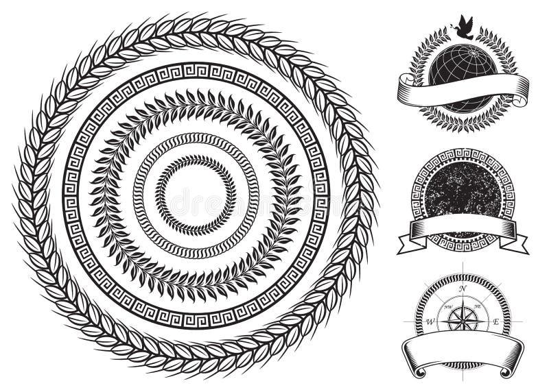 Elementos del marco del círculo libre illustration