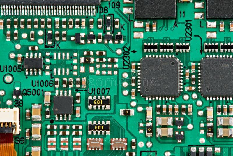 Elementos del microcircuito foto de archivo