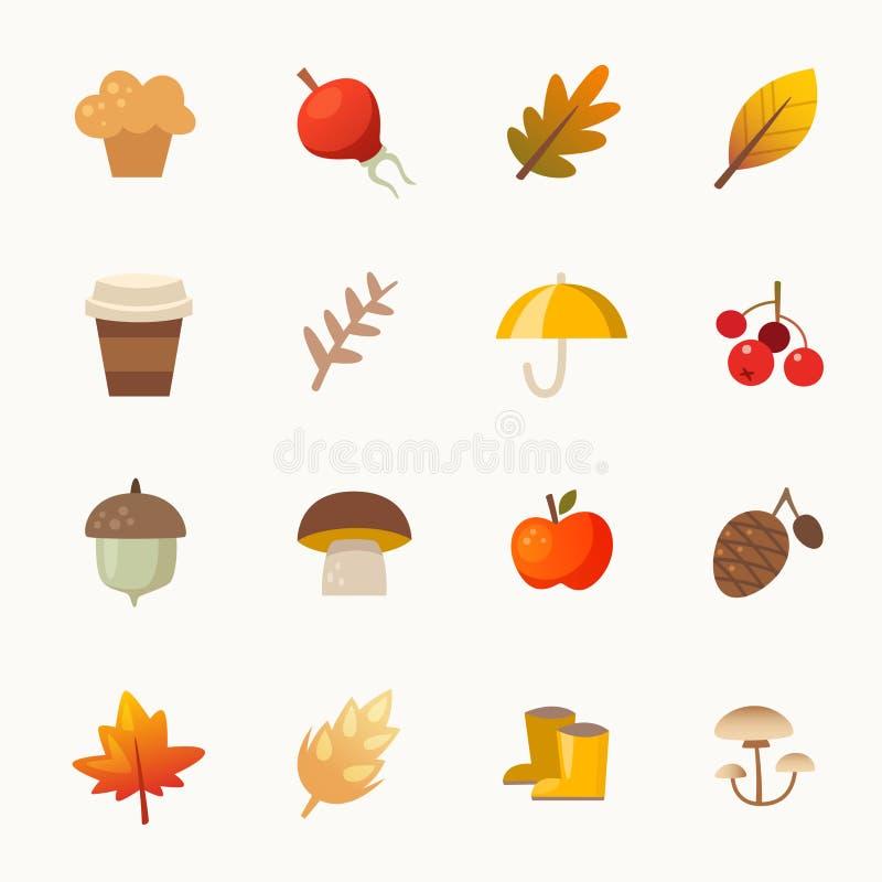 Elementos del otoño stock de ilustración