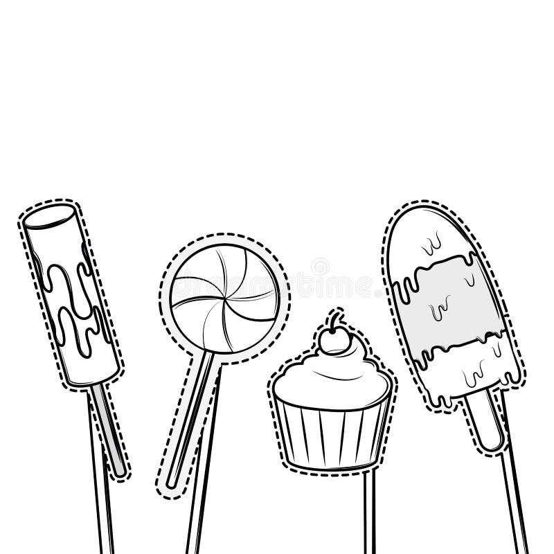 Elementos del partido del apoyo de la cabina ilustración del vector