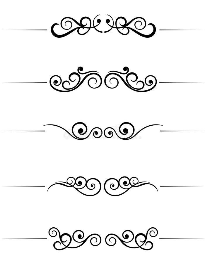 Elementos del remolino stock de ilustración