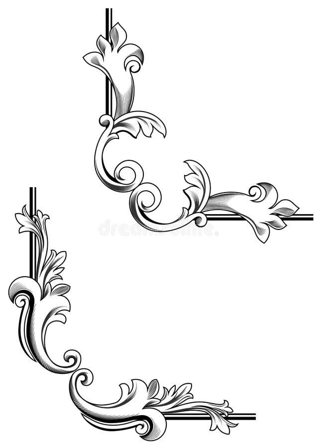 Elementos del remolino ilustración del vector