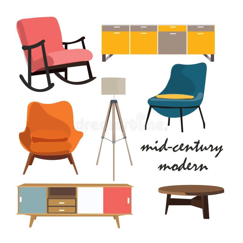 Elementos del vector para el diseño interior ilustración del vector