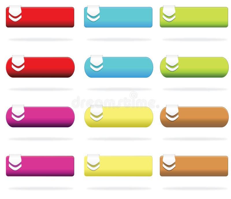 Elementos del Web ilustración del vector