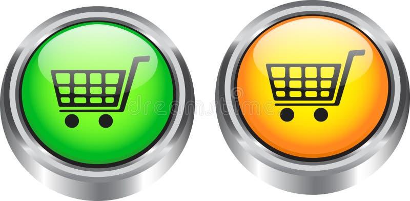 Elementos del Web para el comercio electrónico libre illustration