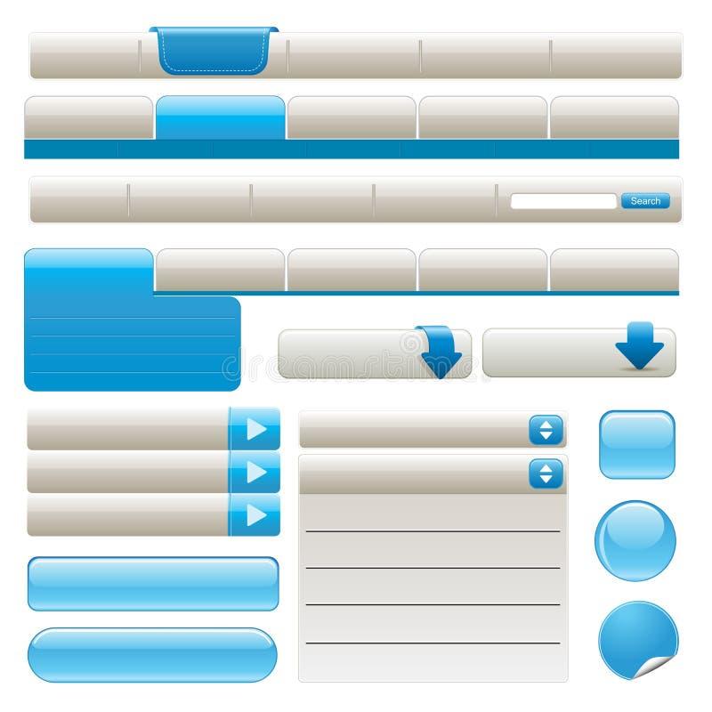 Elementos del Web site stock de ilustración