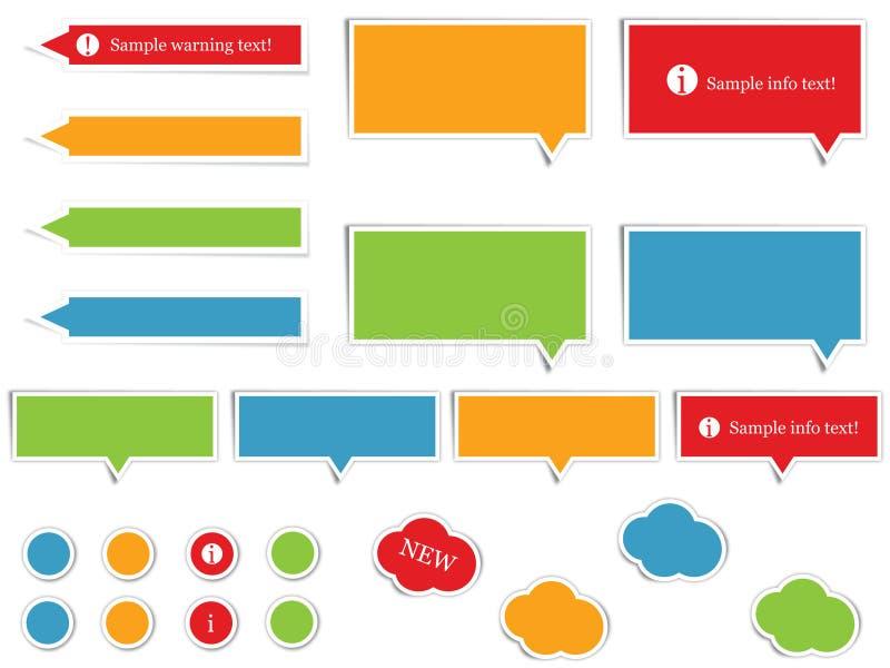 Elementos del Web site ilustración del vector