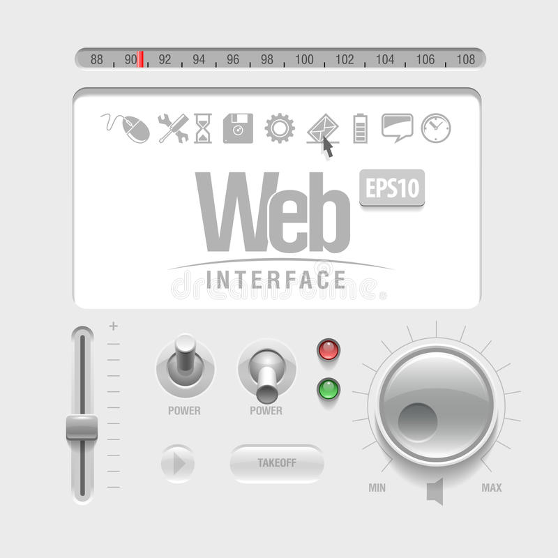 Elementos del Web UI libre illustration