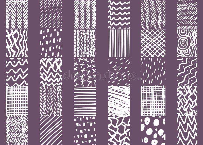 Elementos dibujados mano del diseño de la teja ilustración del vector