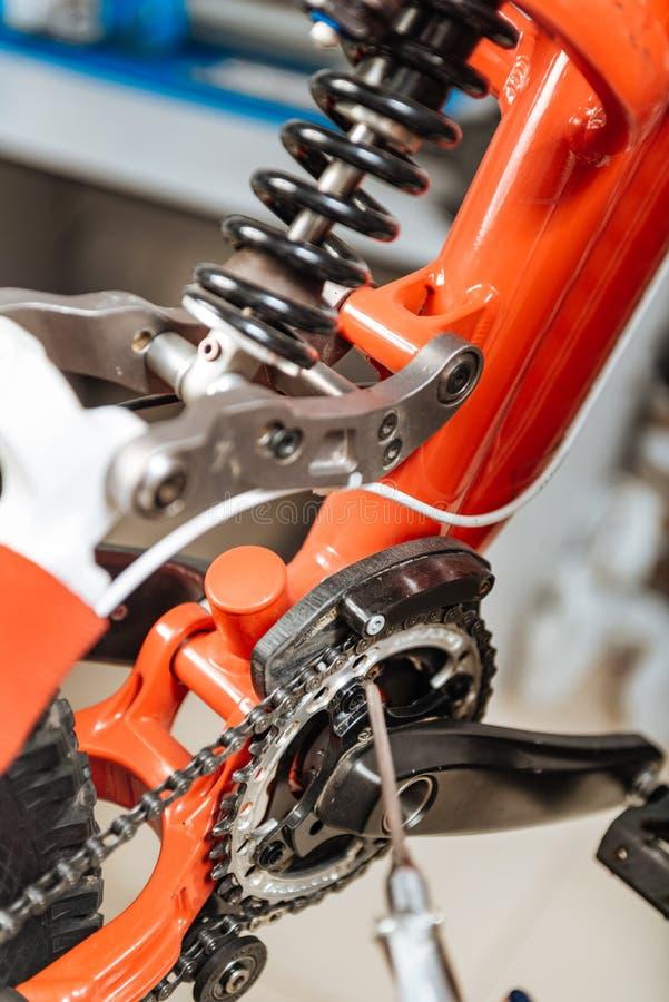 Elementos diferentes da bicicleta imagem de stock royalty free