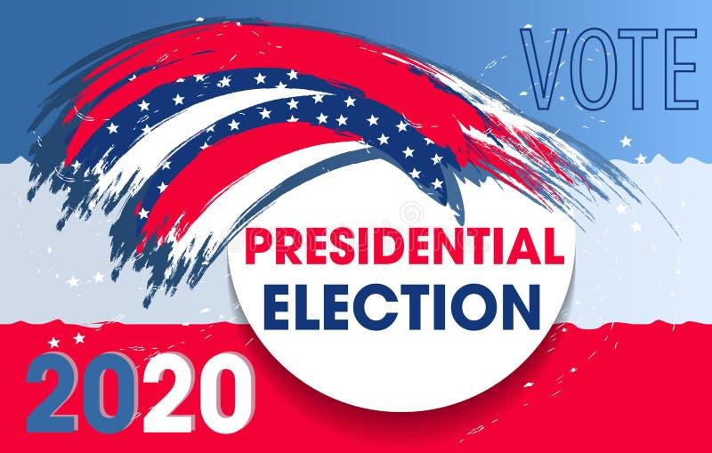 Elementos dinámicos del diseño para la elección presidencial de los Estados Unidos de América Voto 2020 los E.E.U.U. para un avia libre illustration