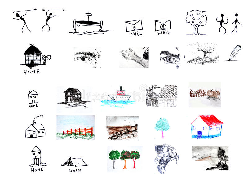 Elementos do ícone e do projeto imagens de stock royalty free