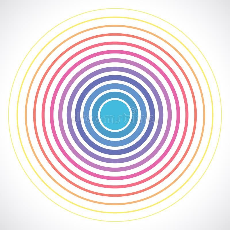 Elementos do círculo concêntrico Ilustração do vetor para o som ilustração stock