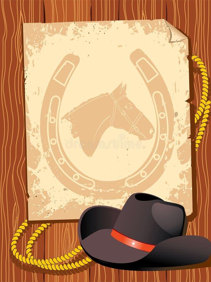 Elementos do cowboy. Vida ocidental ilustração royalty free