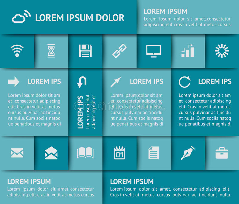 Elementos Do Design Web Fotografia de Stock