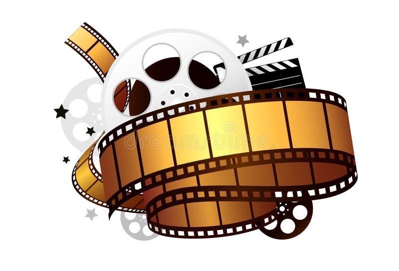 Elementos do filme ilustração do vetor