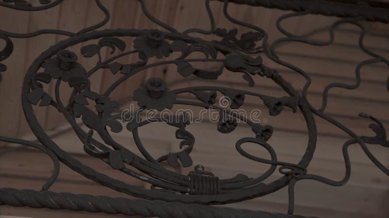 Elementos do forjamento da arte e cerca do ferro Elementos decorativos encaracolado do metal áspero Elementos da decoração do vin fotografia de stock royalty free