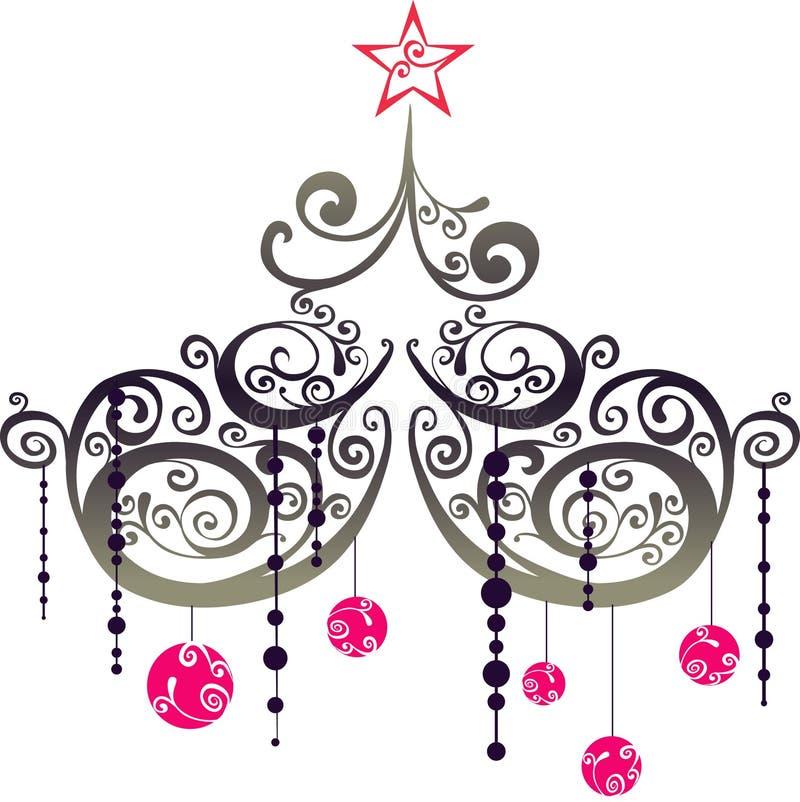 Elementos do gráfico do Natal ilustração stock