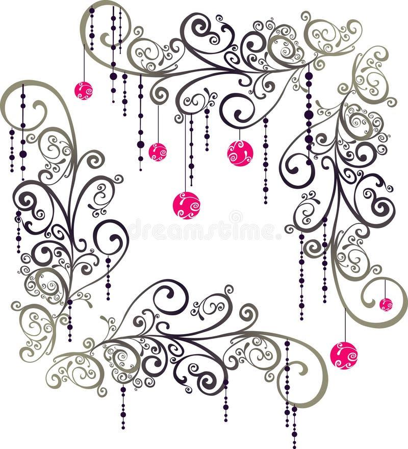 Elementos do gráfico do Natal ilustração do vetor