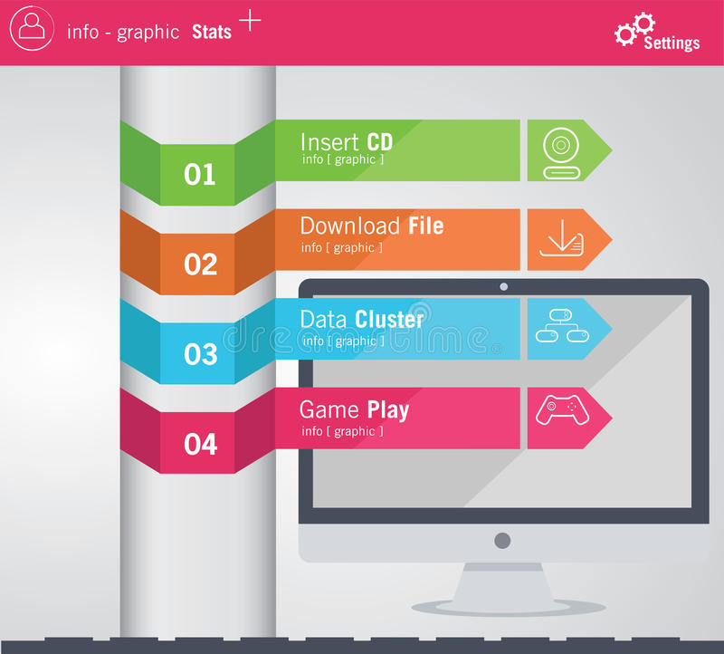 elementos do Informação-gráfico ilustração stock