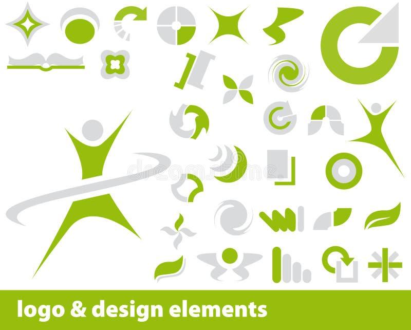 Elementos do logotipo do vetor