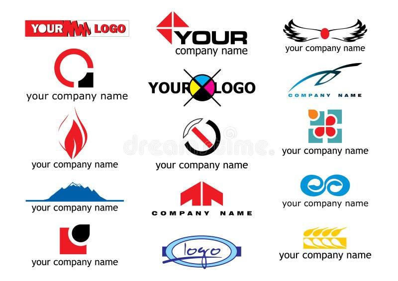 Elementos do logotipo do vetor ilustração stock