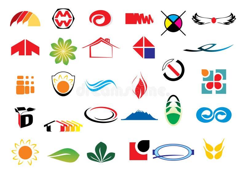Elementos do logotipo do vetor ilustração do vetor